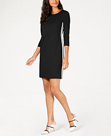 Alfani Racer Stripe Sheath Dress, Created for Macy's