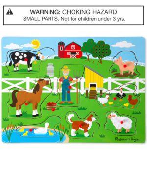 Melissa & Doug Old MacDonald's Farm Sound Puzzle 6587330