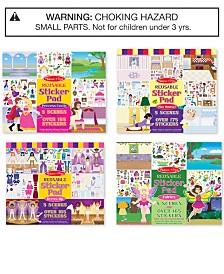 Melissa & Doug Reusable Sticker Pad Fairy, Princess, Dress-Up & Play House Bundle