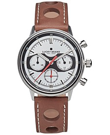 Men's Chrnongraph Fairfax Racing Tan Perforated Leather Strap Watch 40mm