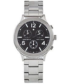 Lucky Brand Men's Chronograph Rockpoint Stainless Steel Bracelet Watch 42mm