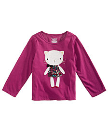 First Impressions Baby Girls Cat-Print Cotton T-Shirt, Created for Macy's