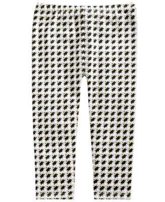 33e3880ad2f5ea First Impressions · Baby Girls Houndstooth-Print Leggings, Created for  Macy's
