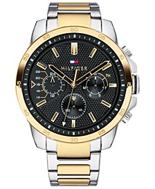 Men's Two-Tone Stainless Steel Bracelet Watch 46mm, Created for Macy's