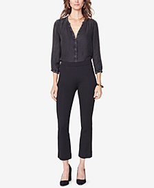 NYDJ Tummy-Control Cropped Bootcut Pull-On Pants