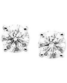 Certified Diamond Stud Earrings (2 ct. t.w.) in 14k Gold or White Gold