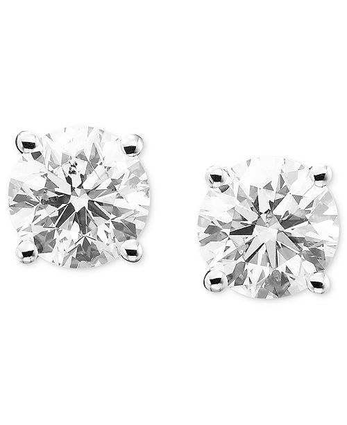 Macy S Diamond Stud Earrings 1 4 Ct T W In 14k Gold Or