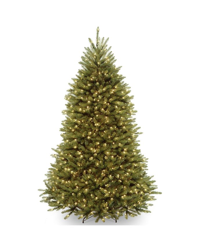 National Tree Company - National Tree 9' Dunhill Fir Tree with 900 Clear Lights and PowerConnect ™