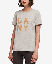 DKNY Glitter Logo T-Shirt, Created for Macy's