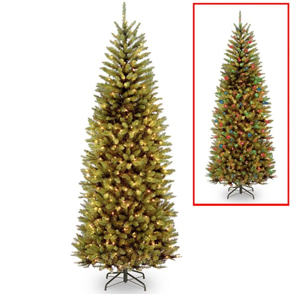 National Tree Company National Tree 7 .5' Kingswood Fir Slim Hinged Tree with 450 Dual Color(R) LED Lights + PowerConnect System-9 Functions