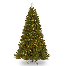 National Tree 6.5' North Valley Spruce Hinged Tree with 450 Clear Lights