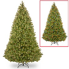 """National Tree 9' """"Feel-Real: Bayberry Spruce Hinged Tree with 1000 Dual Color LED Lights and PowerConnect System"""
