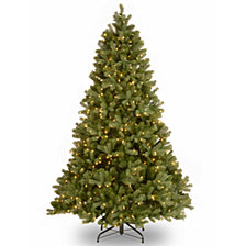 National Tree 7 .5' Feel Real Down Swept Douglas Fir Hinged Tree with 750 Clear Light and PowerConnect™ System