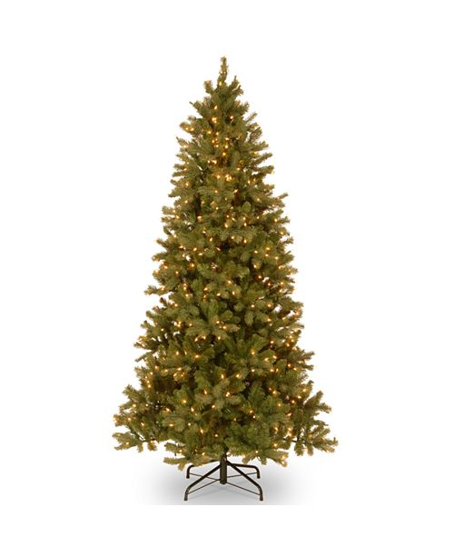 National Tree Company National Tree 6 .5' Feel Real Downswept Douglas Slim Fir with 500 Clear Lights