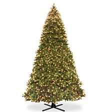 National Tree 16' Feel Real  Downswept Douglas Fir Hinged Tree with 2100 Dual Color LED Lights