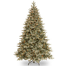 National Tree 7 .5'Feel RealRFrost Arctic Spruce Hinged Tree with 750 Clear Lights