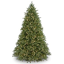 "National Tree 7 .5' ""Feel Real"" Jersey Fraser Fir Hinged Tree with 1250 Clear Lights"