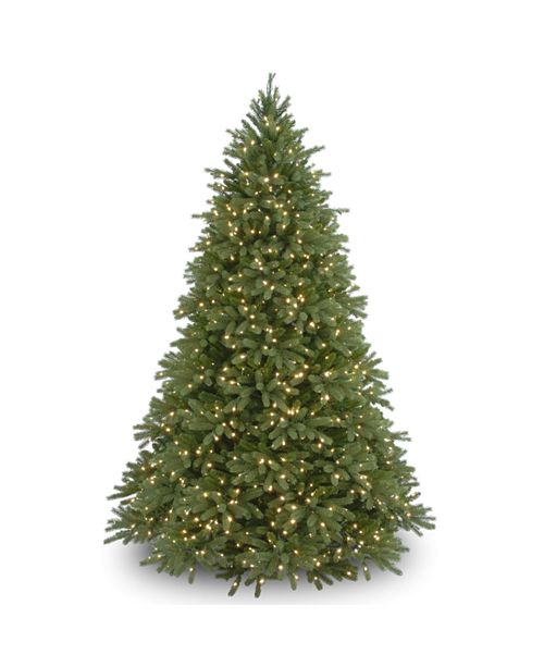 """National Tree Company National Tree 7 .5' """"Feel Real"""" Jersey Fraser Fir Hinged Tree with 1250 Clear Lights"""