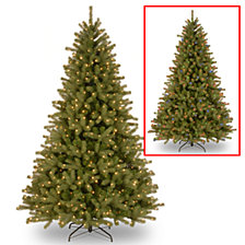 "National Tree 7 .5' ""Feel-Real"" Lakewood Spruce Hinged Tree with 700 Dual Color LED Lights"