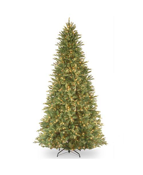 "National Tree Company National Tree 12' ""Feel Real"" Tiffany Fir Slim Hinged Tree with 1200 Clear Lights"
