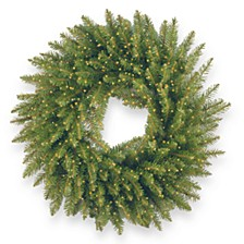 """24"""" Kingswood Fir Wreath with 250 Battery Operated Infinity™ Lights"""