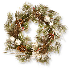 """National Tree Company 24"""" Christmas Wreath with Cones"""