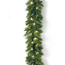 "National Tree Company 9' x 10"" Winchester Pine Garland with 50 Clear Lights"