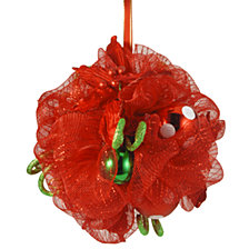 "National Tree Company 12"" Decorative Collection Red Ribbon Kissing Ball"
