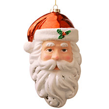"National Tree 9.8"" Santa's Face Ornament Set of 4"