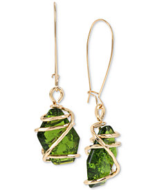 Robert Lee Morris Soho Caged Crystal Drop Earrings