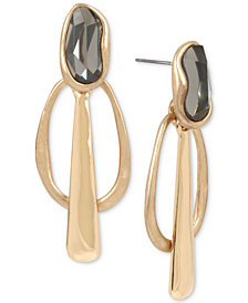 Robert Lee Morris Soho Gold-Tone Stone Geometric Drop Earrings