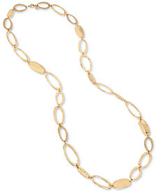 "Robert Lee Morris Soho Gold-Tone Oval Link 49"" Station Necklace"