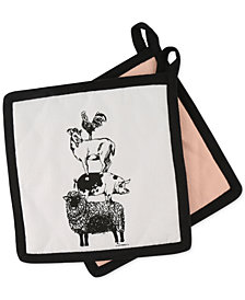 Thirstystone Set of 2 Stacked Animals Pot Holders