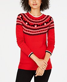Charter Club Fair Isle Scotty Dog Sweater, Created for Macy's