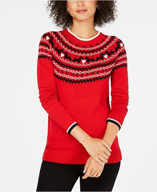 Charter Club Fair Isle Scotty Dog Sweater, Created for Macy's