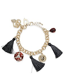 Thalia Sodi Gold-Tone Tassel Charm Bracelet, Created for Macy's