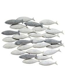 Stratton Home Decor Grey School of fish Wall Decor