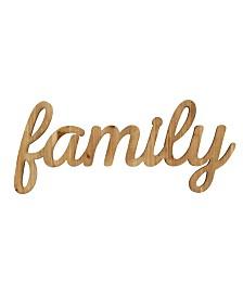 Stratton Home Decor Family Natural Wood Script Wall Art