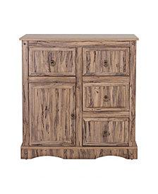 Simplicity Storage Cabinet with 1 Door 4 Drawers