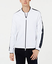 A|X Armani Exchange Men's Colorblocked Baseball Jacket