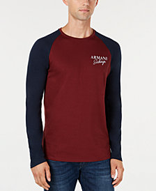 A|X Armani Exchange Men's Raglan Sleeve Baseball Jersey