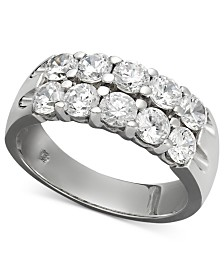 Two-Row Certified Diamond Band Ring in 14k White Gold (1-1/2 ct. t.w.)