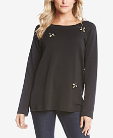 Karen Kane Embellished Bee Top