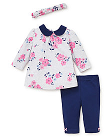 Little Me Baby Girls Floral Tunic Set with Headband