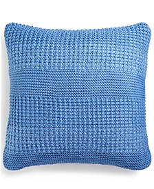 "Multi-Knit 20"" Square Decorative Pillow, Created for Macy's"