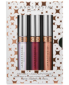Anastasia Beverly Hills 3-Pc. Holiday Mini Metallic Liquid Lipstick Set, A $42 Value!