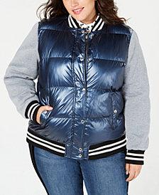 Levi's® Plus Size Mixed-Media Varsity Jacket