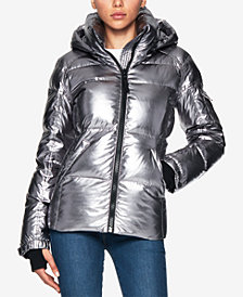 S13 Metallic Kylie Puffer Coat