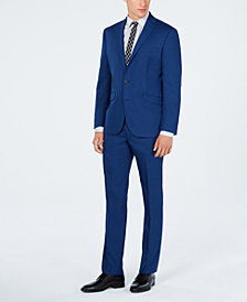 Kenneth Cole Reaction Men's Ready Set Slim-Fit Stretch Indigo Solid Suit