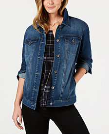 Style & Co Denim Trucker Jacket, Created for Macy's